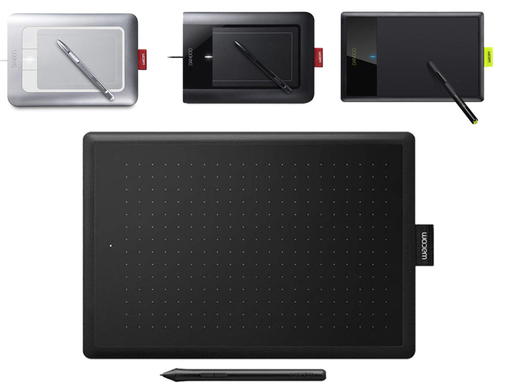 wacom Bamboo, beginner tablets over years