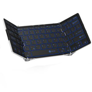 iClever Folding Bluetooth Keyboard with 3-Color Backlight