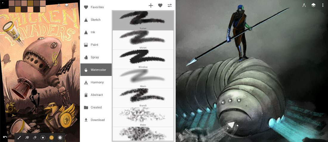 Infinite painter android drawing app