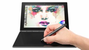 Lenovo yoga book drawing android tablet with stylus