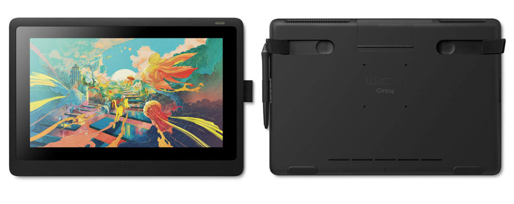 wacom cintiq 16 front and back