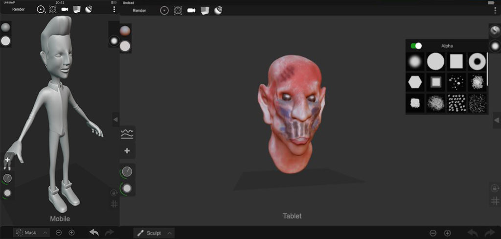 Sculpt+ 3d modeling for android tablet and smartphones