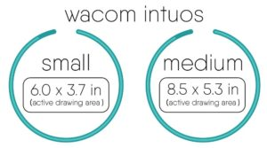 Wacom intuos small and medium tablet size comparison