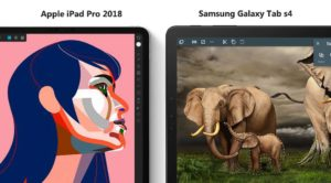 Apple iPad pro 2018 vs Samsung Galaxy tab S4 screen comparison