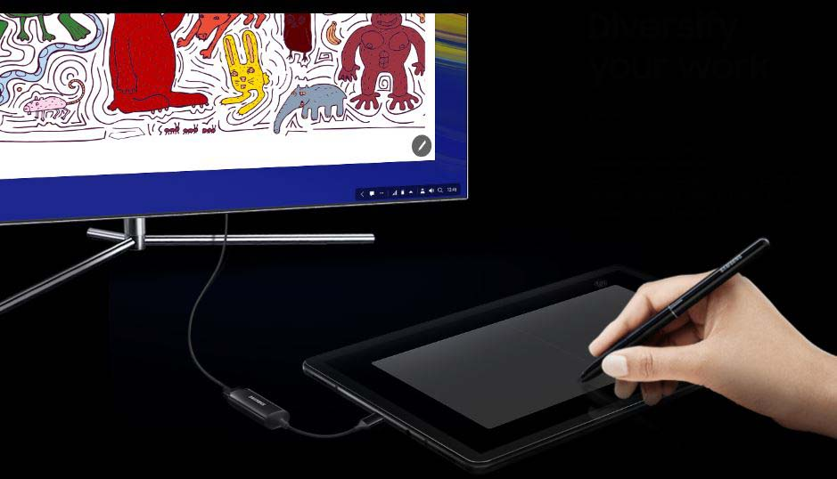 Samsung Dex in a tablet mode