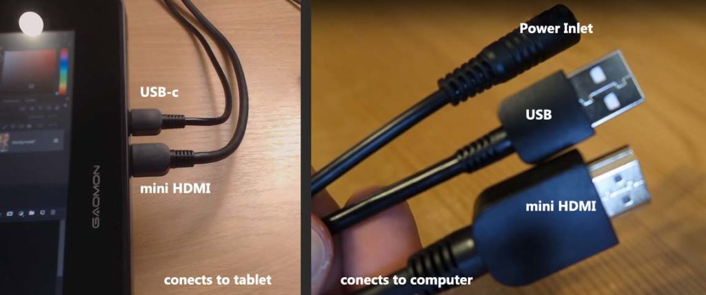 connecting the tablet to the computer