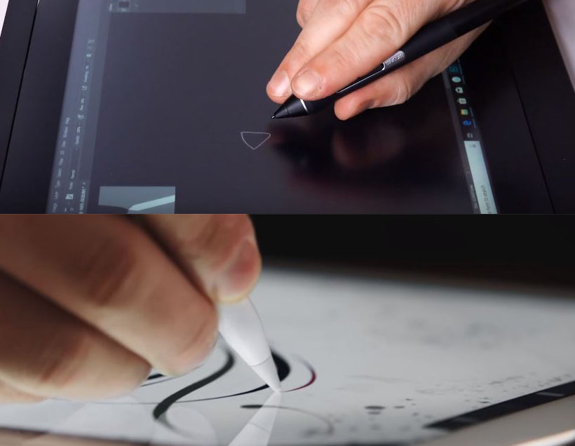 drawing tablet with screen comparison