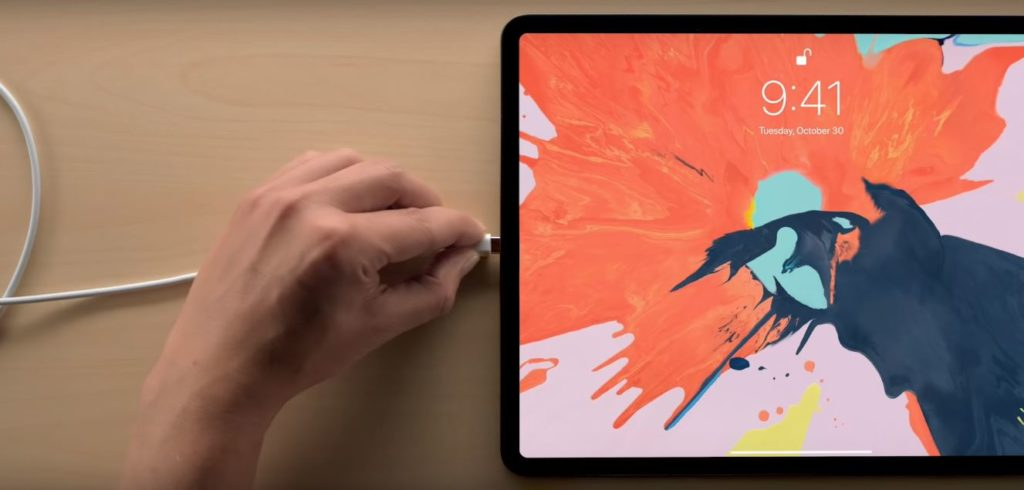 iPad pro 2018 charging