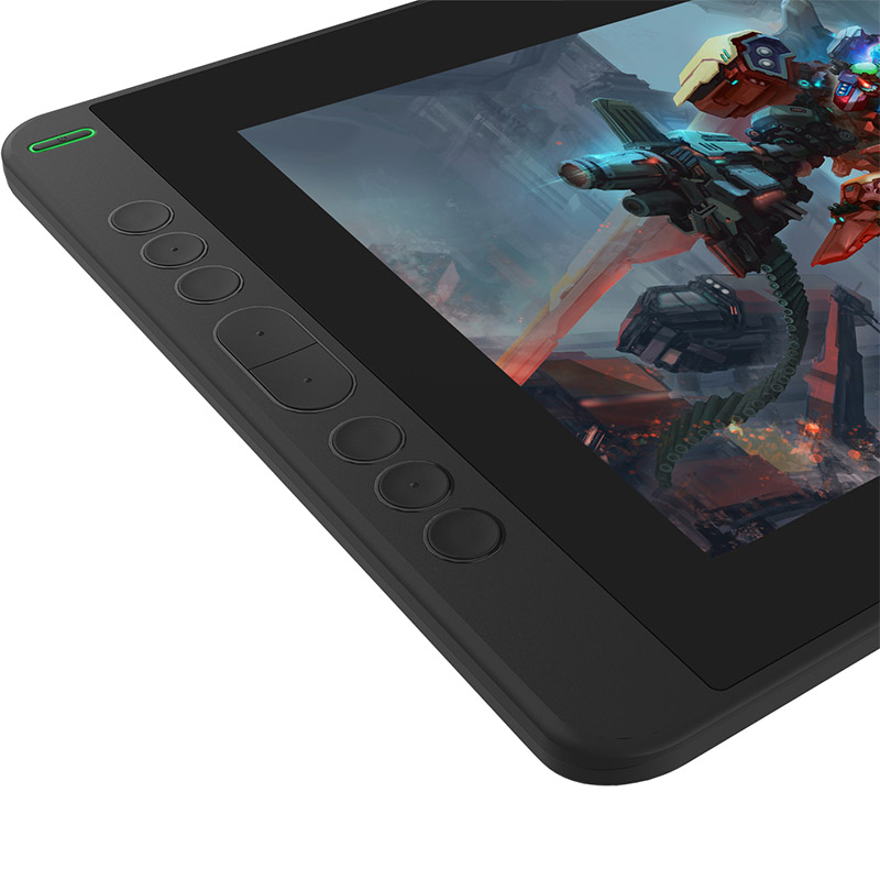 Huion Kamvas 13 buttons on the tablet