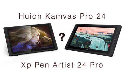 Huion Kamvas Pro 24 vs Xp Pen Artist 24 Pro comparison: Which is Better?