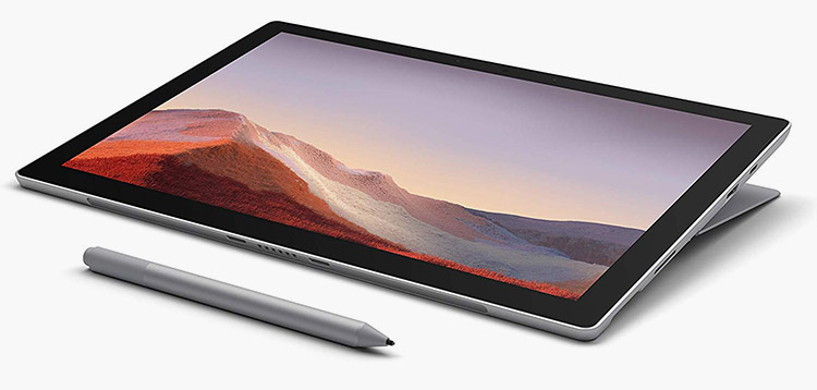 Microsoft Surface Pro 7 standalone drawing device