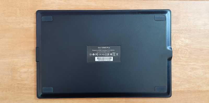 rubber pads at the back of the tablet
