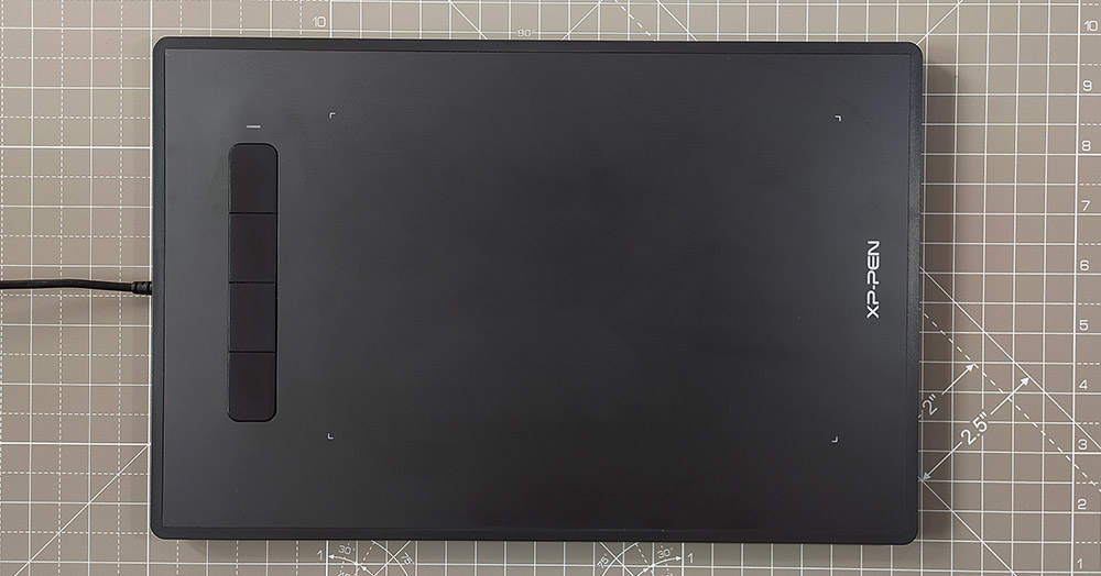 Star G960 tablet drawing area and shortcut buttons