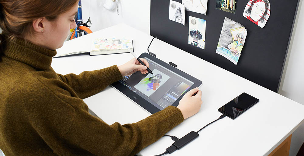 Wacom One Android drawing apps support