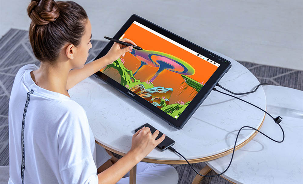 Android support on Huion Kamvas 22
