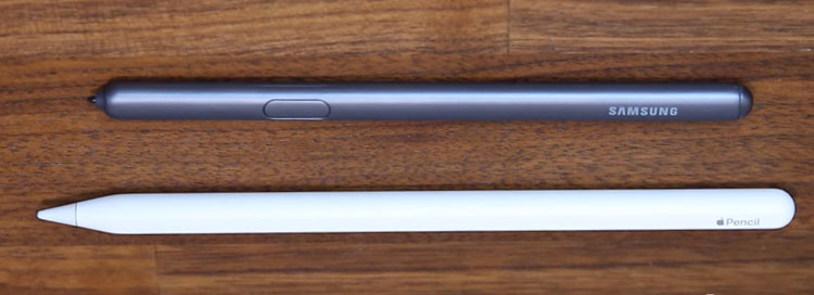 apple pencil and Samsung S Pen stylus