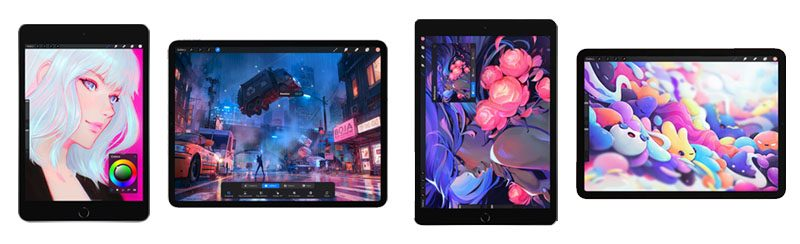 All iPad models that supports Procreate