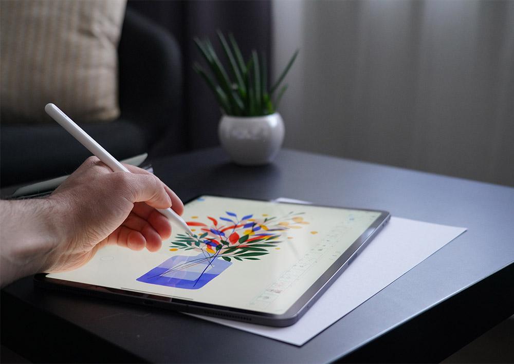 drawing on apple ipad pro screen