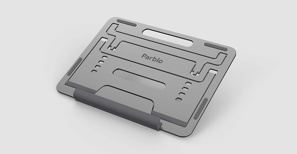drawing tablet stand Parblo PR110 folds into thin metal plate