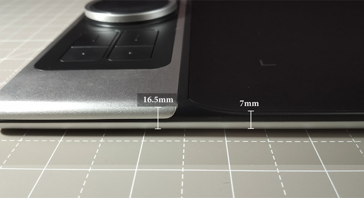 graphics tablet width