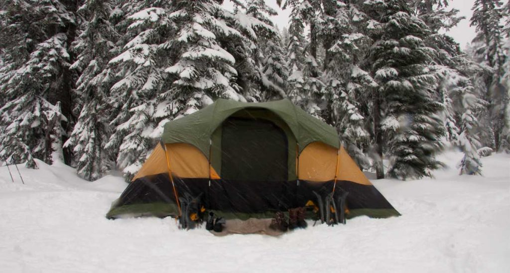 safe tent heates for camping trip - tent size