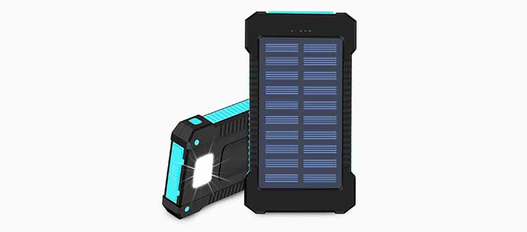 hidver solar power bank for camping hiking