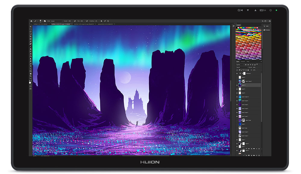 huion kamvas 22 plus - color accuracy and display quality