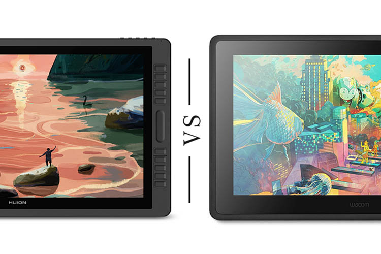 Huion Kamvas Pro 22 vs Wacom Cintiq 22 comparison