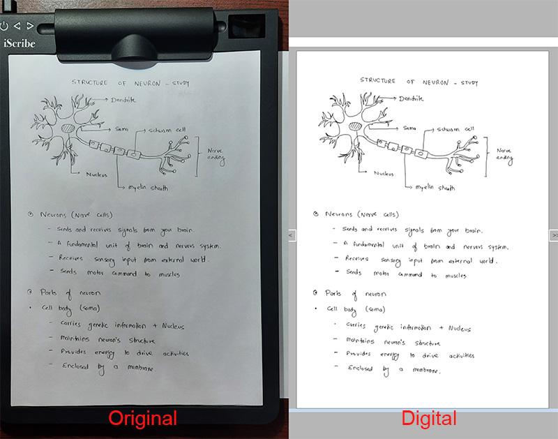 handwritten vs digital - notes comparison