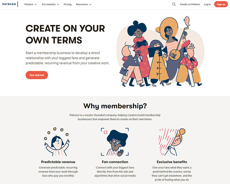 making money from membership platforms as a artist
