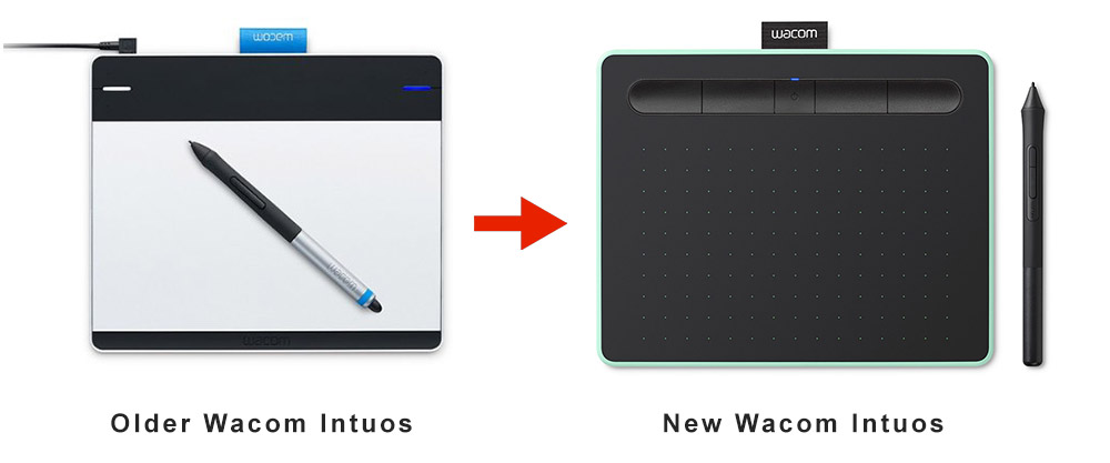 older wacom Intuos vs newer wacom Intuos