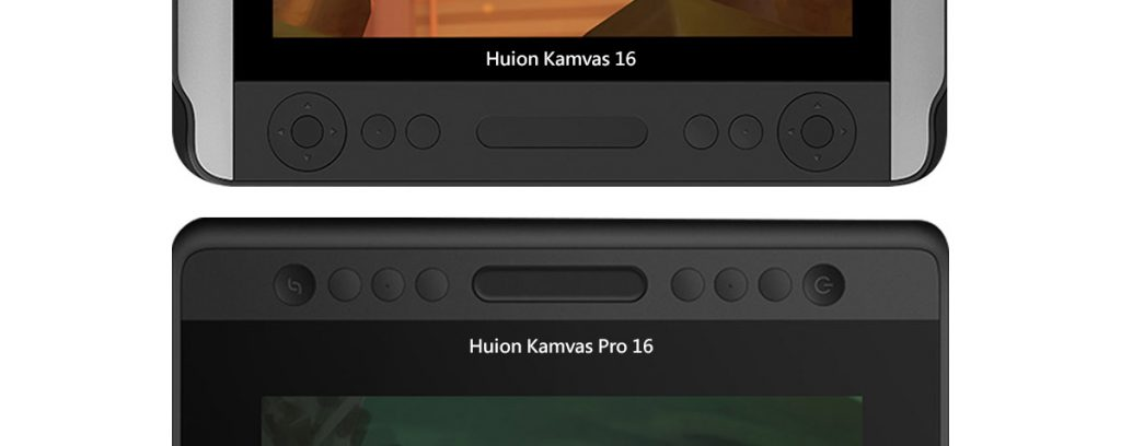 shortcut buttons comparison kamvas 16 and kamvas pro 16