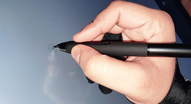 surface texture on Xp Pen Artist 22 second generation