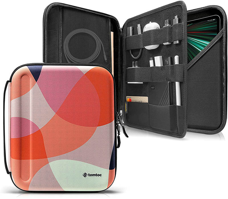 tomtoc hard tablet case for iPad pro with extra storage