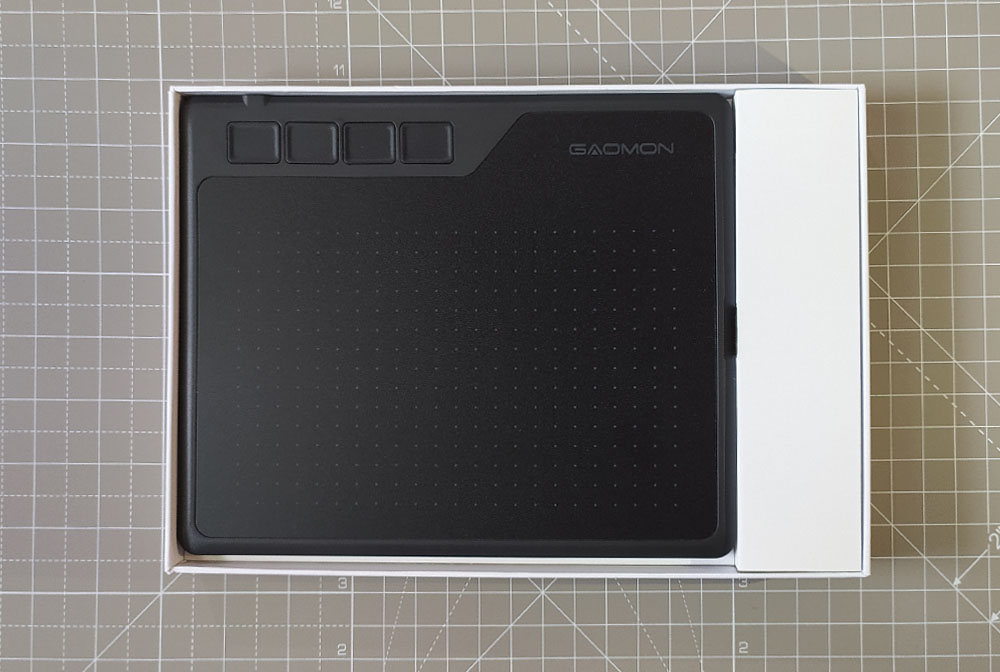 unboxing the tablet
