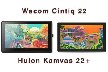 Comparison: Wacom Cintiq 22 vs Huion Kamvas 22 (plus)