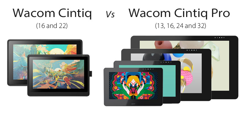 wacom cintiq vs Cintiq pro comparison