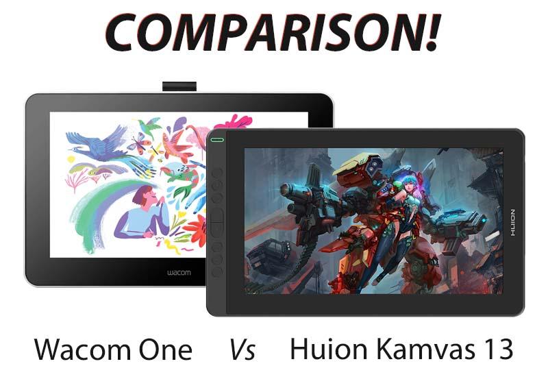 wacom one vs huion kamvas 13 comparison