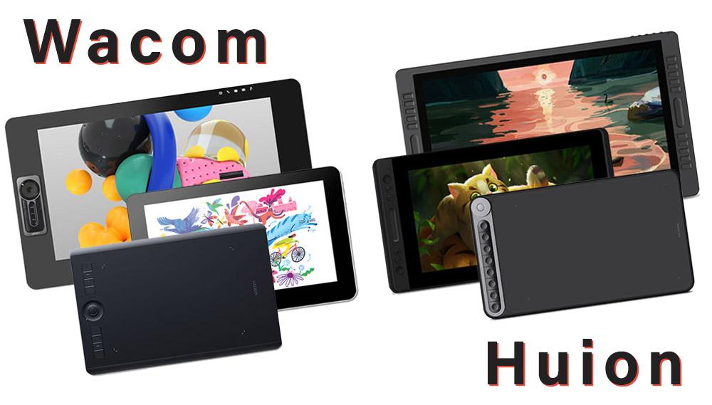 wacom vs huion drawing tablet comparison