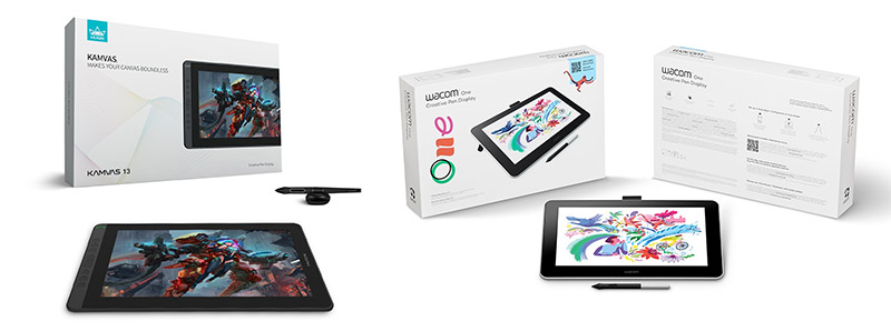 which is the right tablet to buy, Huion Kamvas 13 or the Wacom One