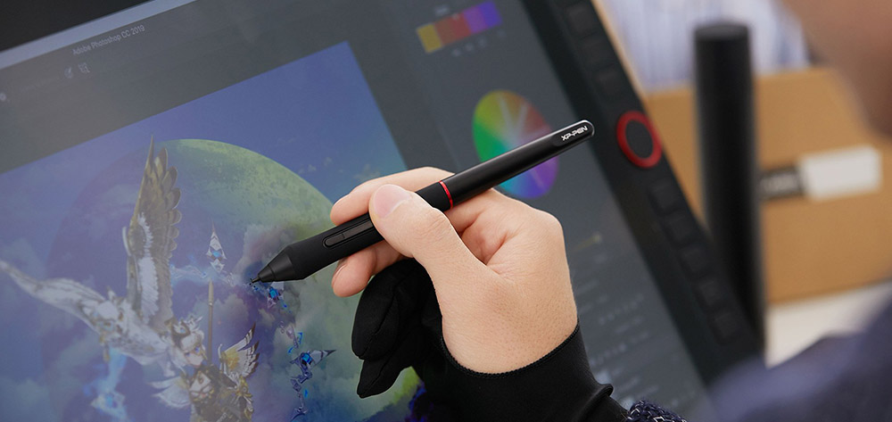 xp pen artist 22R Pro anti-glare screen, brightness and viewing angles