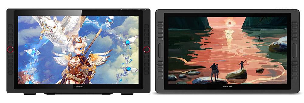 xp pen artist 22r Pro vs Huion kamvas Pro 22 comparison