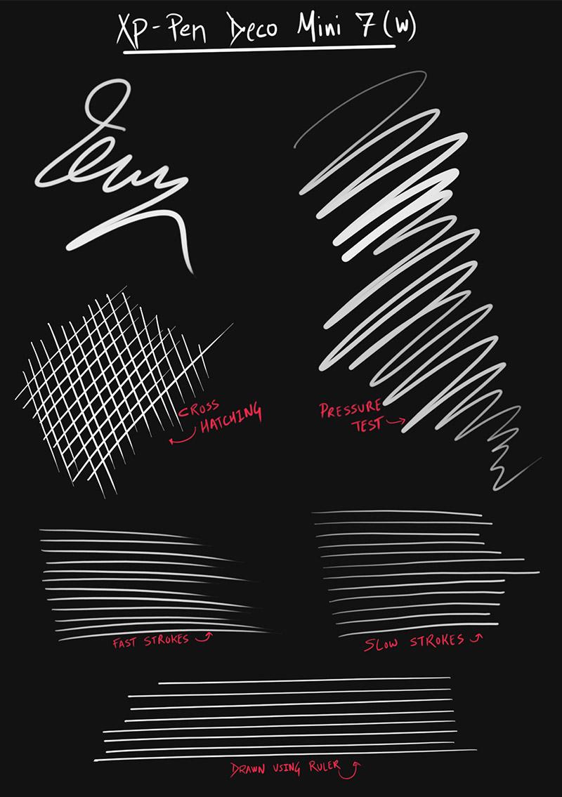 stylus drawing test - xp pen deco mini 7